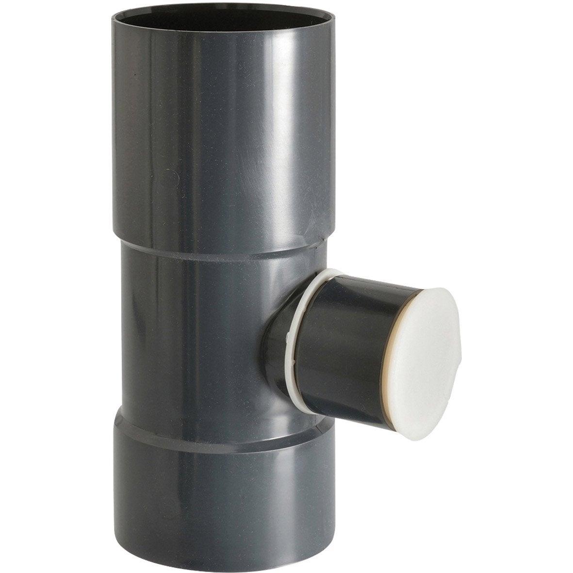 collecteur d 39 eau pour goutti re ronde pvc ardoise girpi d cm mm leroy merlin. Black Bedroom Furniture Sets. Home Design Ideas