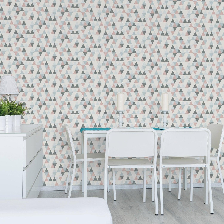 papier peint gris et rose fashion designs. Black Bedroom Furniture Sets. Home Design Ideas