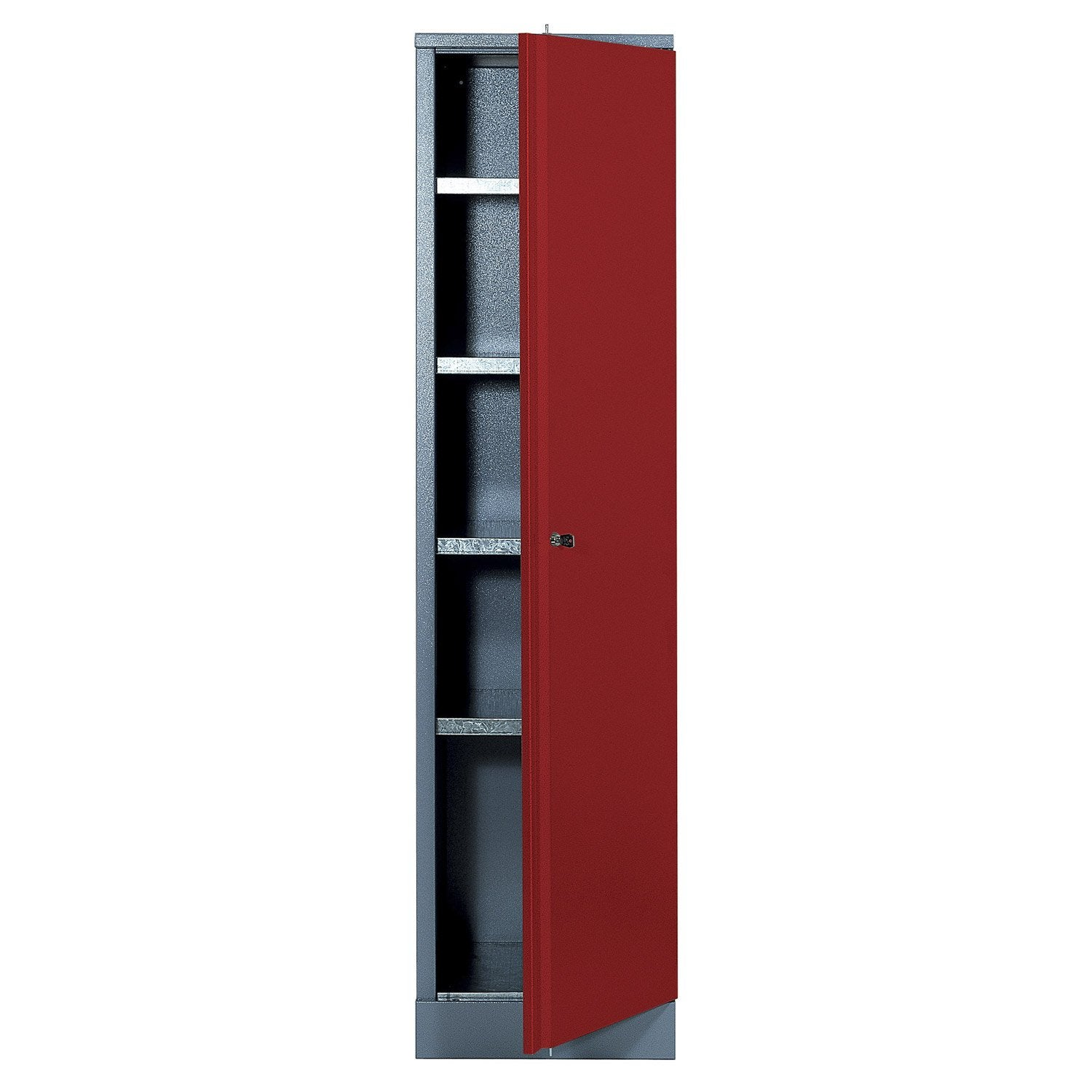 armoire de rangement en m tal rouge kupper 45 5 cm 1 porte leroy merlin. Black Bedroom Furniture Sets. Home Design Ideas