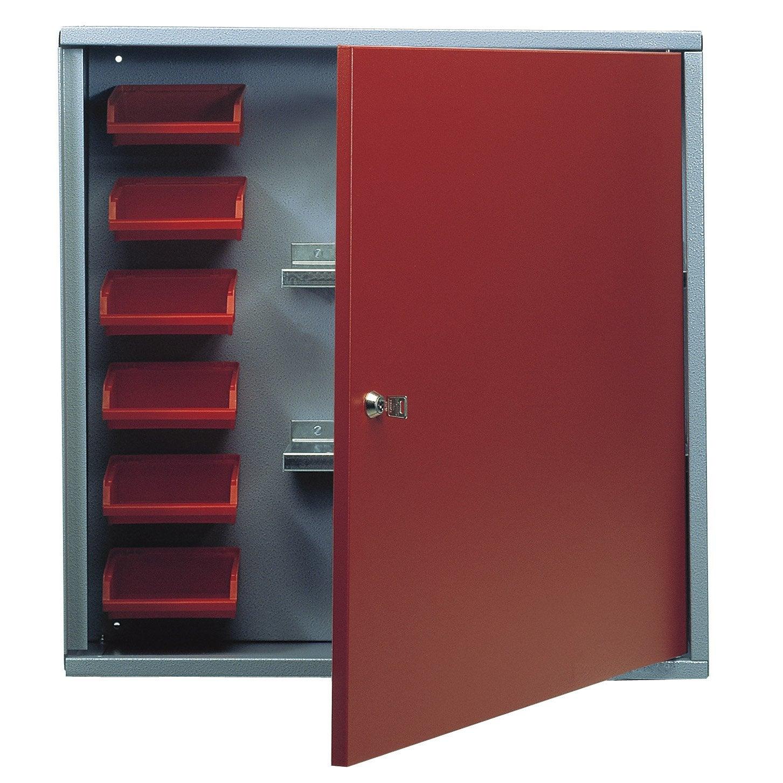 Armoire Metal Rouge Free Armoire De Rangement En Mtal Rouge  # Meuble Tv Ikea Rouge