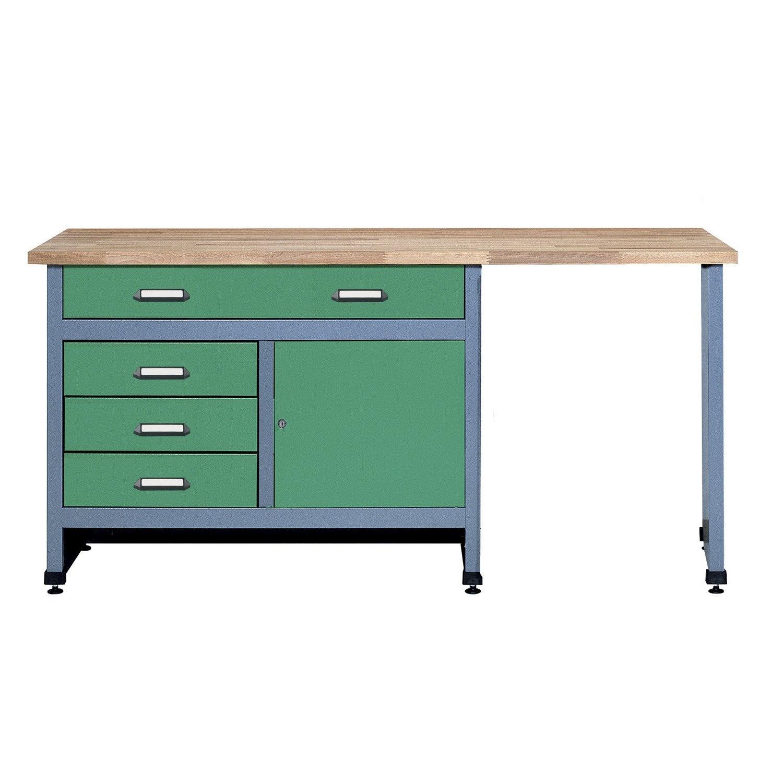 etabli de m canicien kupper 170 cm vert leroy merlin. Black Bedroom Furniture Sets. Home Design Ideas