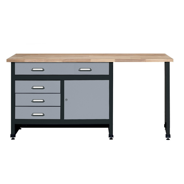 etabli de m canicien kupper 170 cm gris leroy merlin. Black Bedroom Furniture Sets. Home Design Ideas
