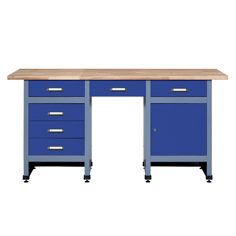 Etabli de m canicien kupper 170 cm bleu 6 tiroirs et 1 porte leroy merlin - Leroy merlin etabli ...