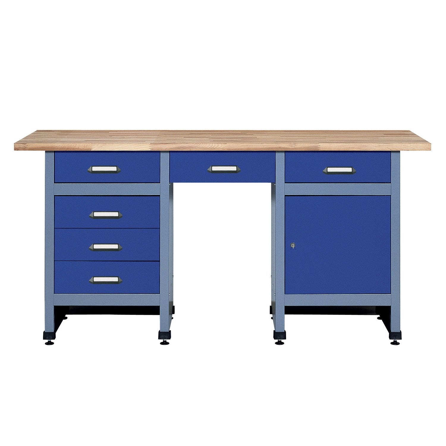 etabli de m canicien kupper 170 cm bleu leroy merlin. Black Bedroom Furniture Sets. Home Design Ideas