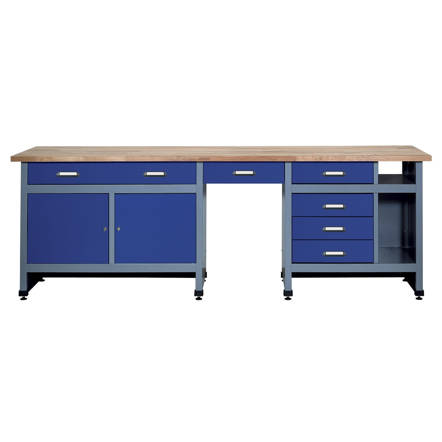 etabli de m canicien kupper 240 cm bleu leroy merlin. Black Bedroom Furniture Sets. Home Design Ideas