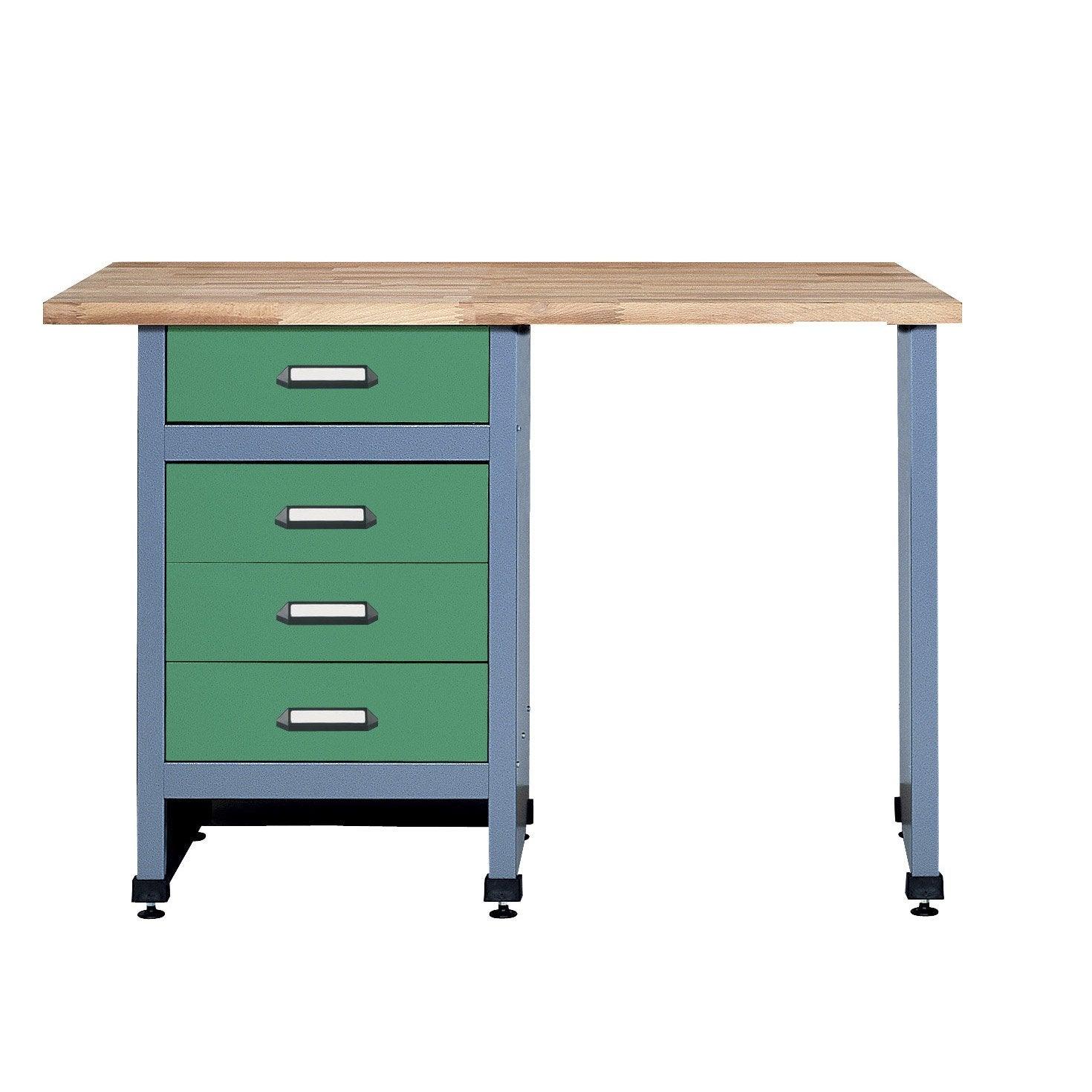 etabli de m canicien kupper 120 cm vert leroy merlin. Black Bedroom Furniture Sets. Home Design Ideas