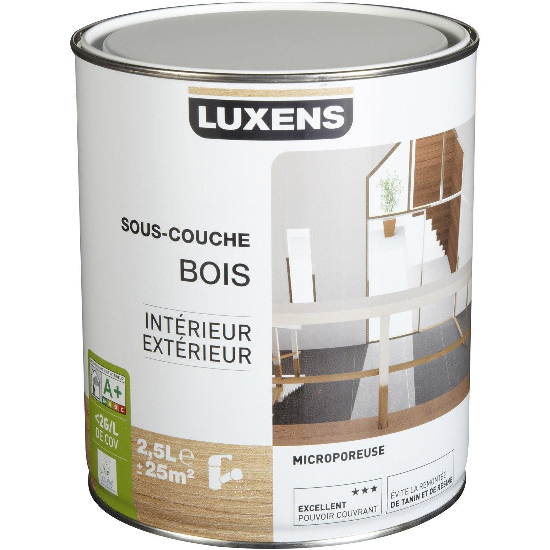 Sous couche bois int rieur et ext rieur luxens 2 5 l leroy merlin - Sous couche bois exterieur ...