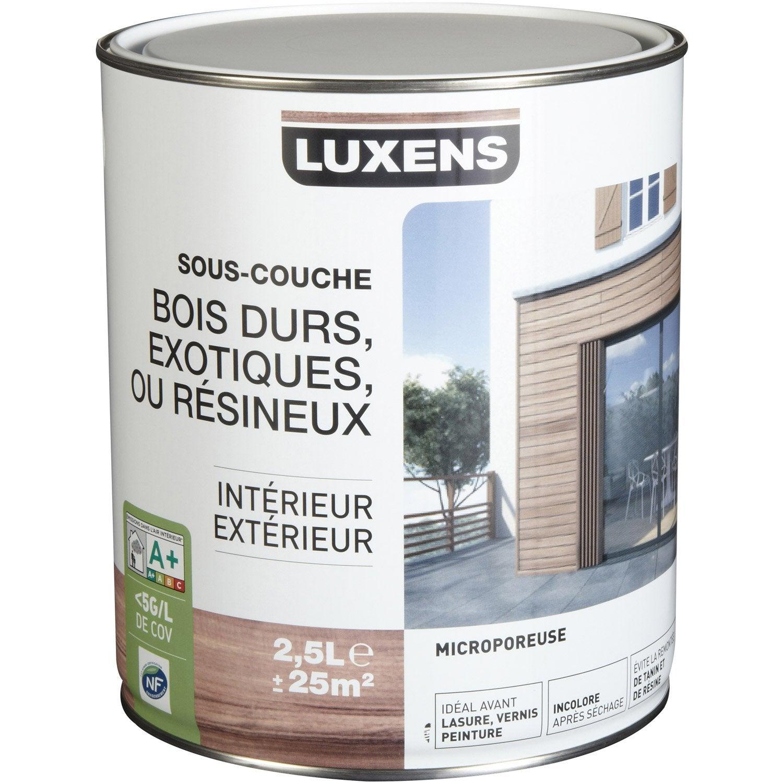 sous couche bois noircis luxens resine de protection pour peinture. Black Bedroom Furniture Sets. Home Design Ideas
