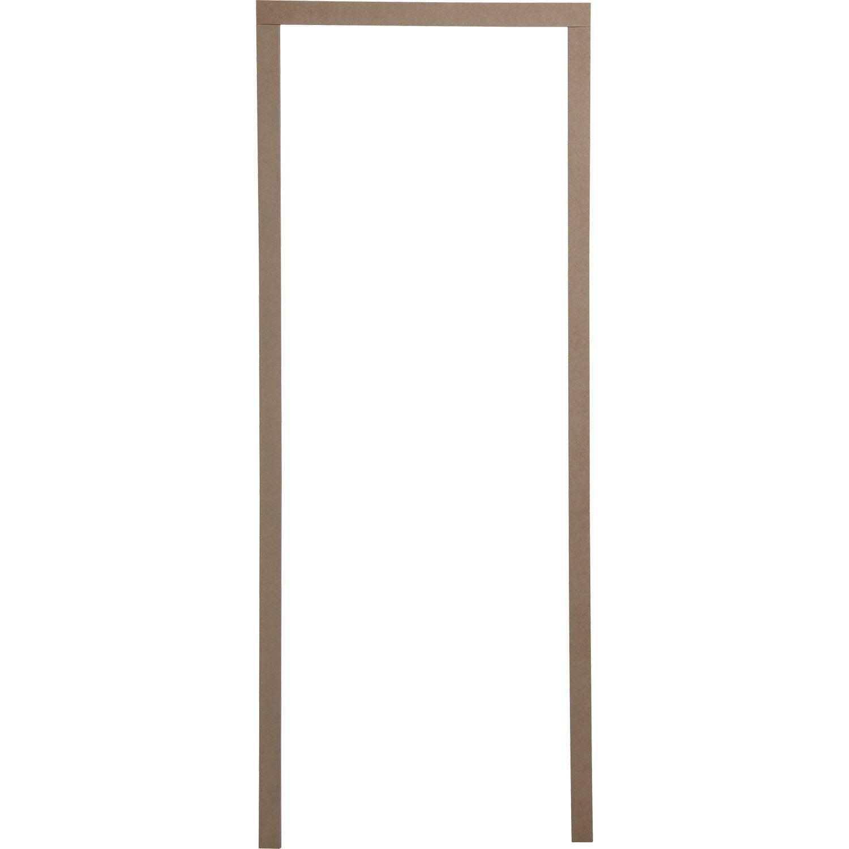 Habillage de porte pour huisserie joues de 7 5 cm m dium mdf leroy merlin - Habillage porte interieur ...