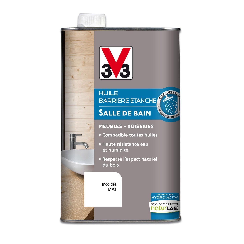 Huile cuisine et bain v33 incolore 0 5 l leroy merlin for Peinture etanche salle de bain leroy merlin