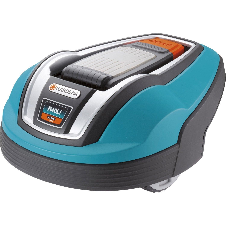 Tondeuse robot sur batterie lithium 18v gardena r50 li for Robot piscine leroy merlin