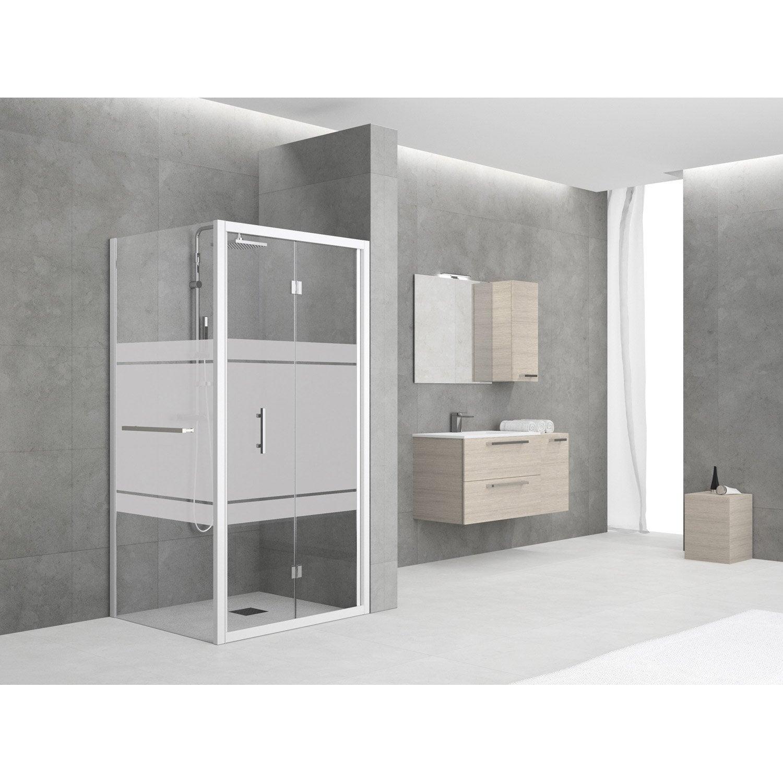 Paroi de douche laterale elyt porte serviette largeur 78 for Porte serviette douche
