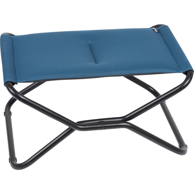 pouf de jardin en acier repose jambes next bleu leroy merlin. Black Bedroom Furniture Sets. Home Design Ideas