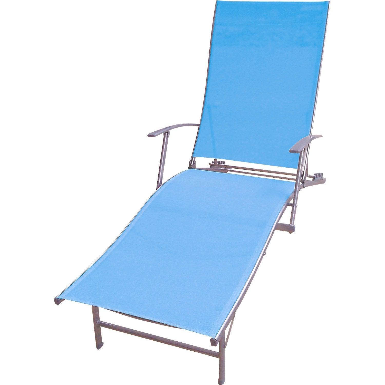 Bain de soleil de jardin en acier zen bleu leroy merlin for Deco jardin zen leroy merlin