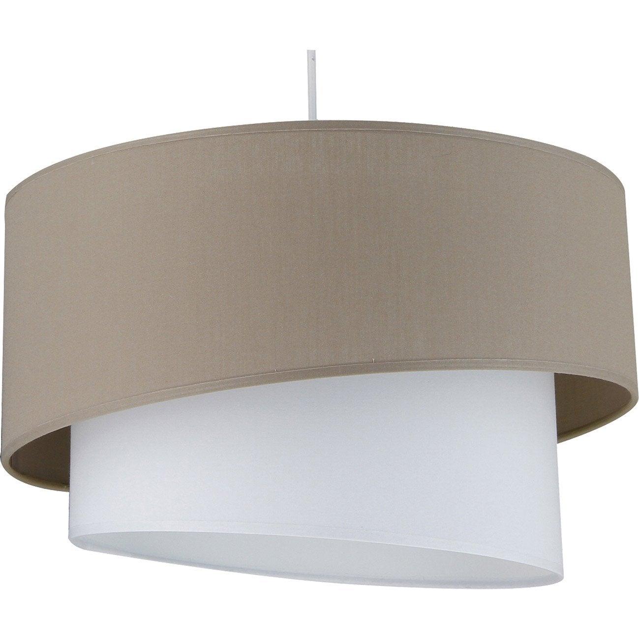 suspension e27 design ionos coton brun taupe n 3 1 x 60 w metropolight leroy merlin. Black Bedroom Furniture Sets. Home Design Ideas