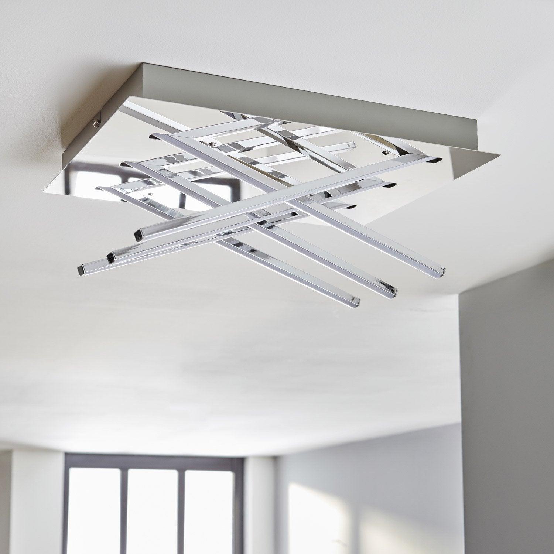 plafonnier design led integree otok metal chrome 1 x 20 w inspire Résultat Supérieur 15 Nouveau Applique Plafond Leroy Merlin Photos 2018 Phe2