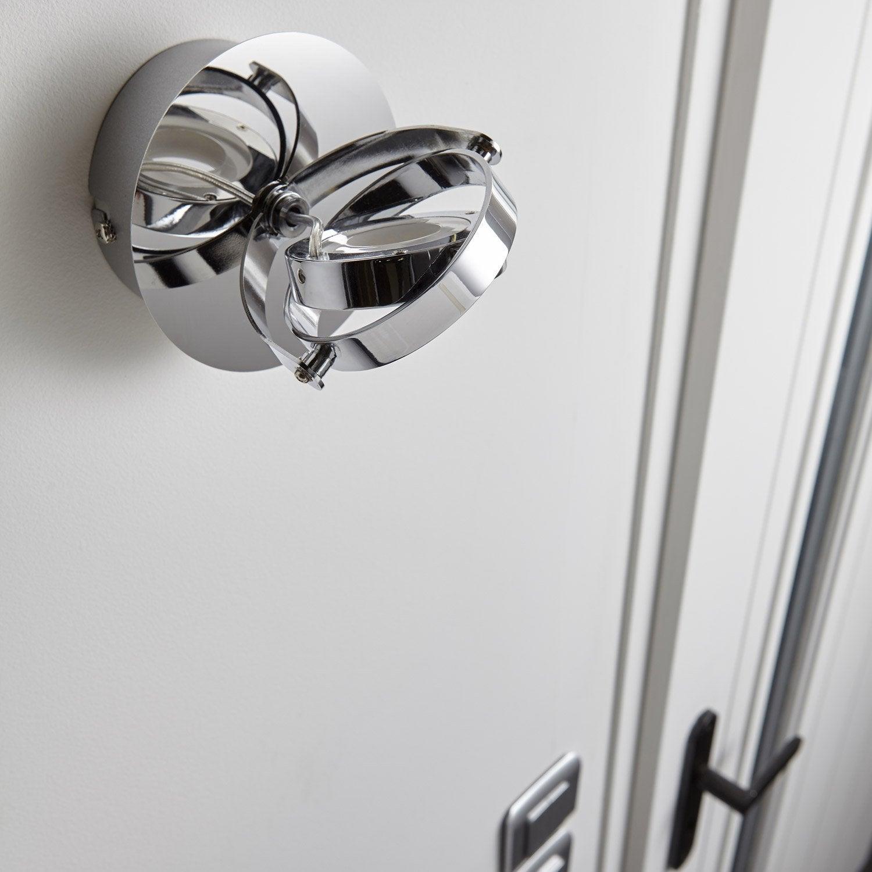 spot pat re led 1 x led int gr e chrome xena inspire leroy merlin. Black Bedroom Furniture Sets. Home Design Ideas