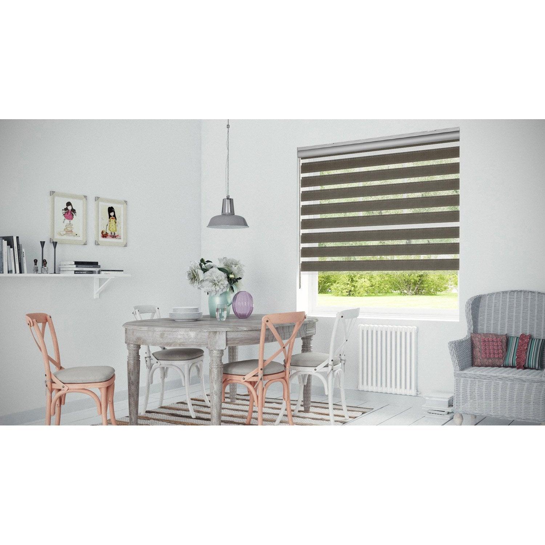 store enrouleur jour nuit coffre alu taupe 117 120 x 250 cm leroy merlin. Black Bedroom Furniture Sets. Home Design Ideas