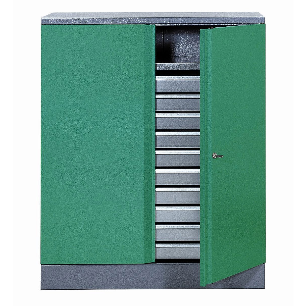 armoire de rangement en m tal vert kupper leroy merlin. Black Bedroom Furniture Sets. Home Design Ideas