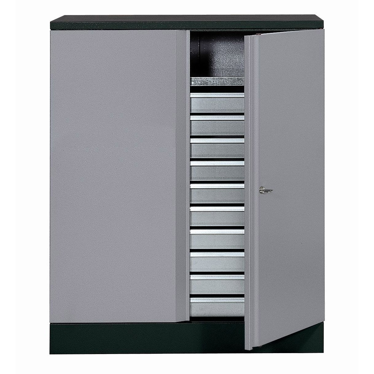 armoire de rangement en m tal gris clair kupper leroy merlin. Black Bedroom Furniture Sets. Home Design Ideas