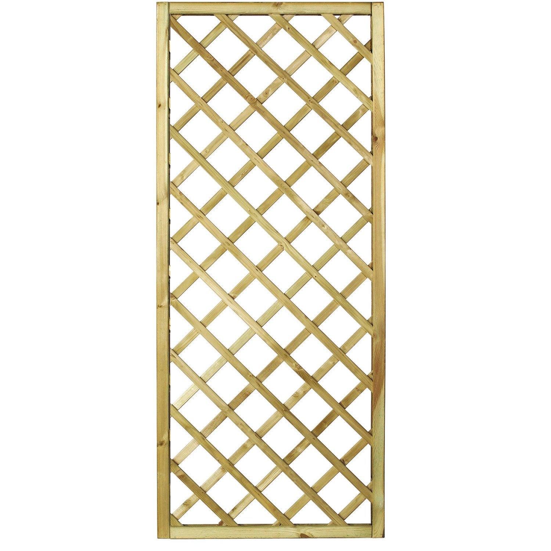 Panneau treillis bois ajour sonato cm x cm naturel leroy merlin - Panneau decoratif exterieur ...
