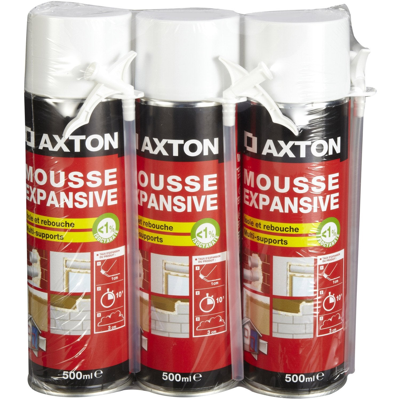 Mousse expansive isoler et reboucher axton 3x500ml leroy merlin - Anti mousse toiture leroy merlin ...