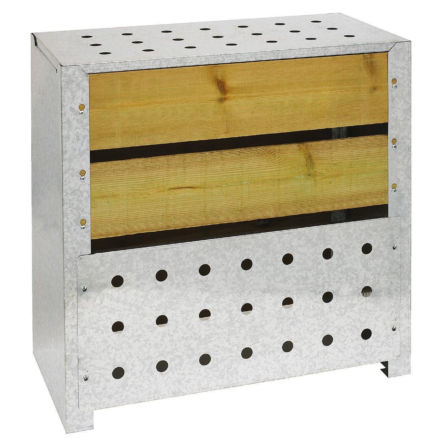 Composteur monobloc guillouard bois marron 200 l leroy - Leroy merlin composteur ...