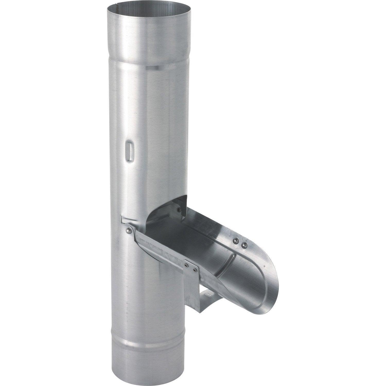 r 233 cup 233 rateur d eau de pluie zinc gris scover plus diam 100 mm leroy merlin