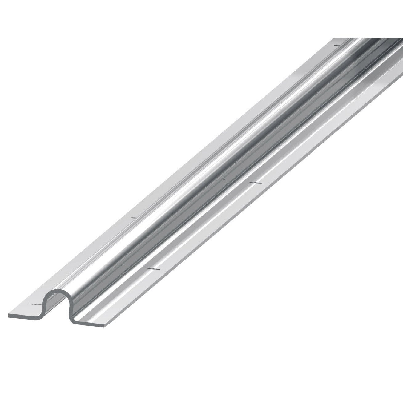 Rail de guidage acier galvanis x x mm for Porte de garage 60 mm