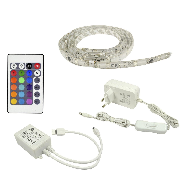 Kit ruban led flexled led 1 x 7 2 w led intégrée rgb changement de