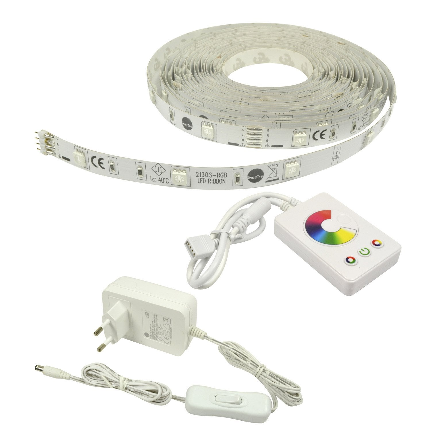 Kit ruban led flexled 5m led int gr e multicolore leroy for Luci led leroy merlin