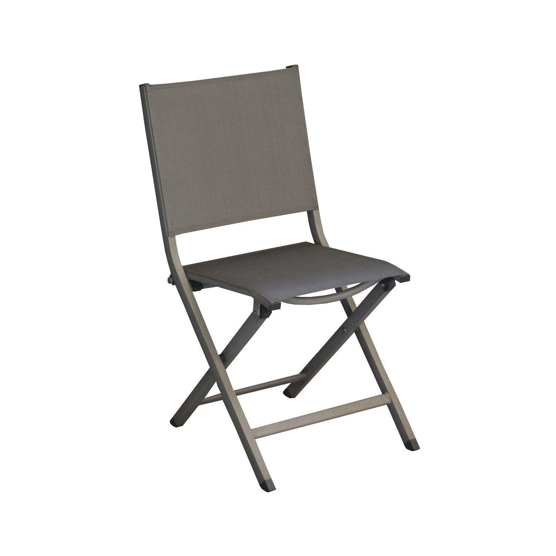 Chaise de jardin en aluminium thema argent leroy merlin for Chaise salon de jardin aluminium