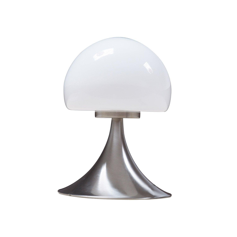 lampe mushroom inspire verre blanc 28 w leroy merlin. Black Bedroom Furniture Sets. Home Design Ideas