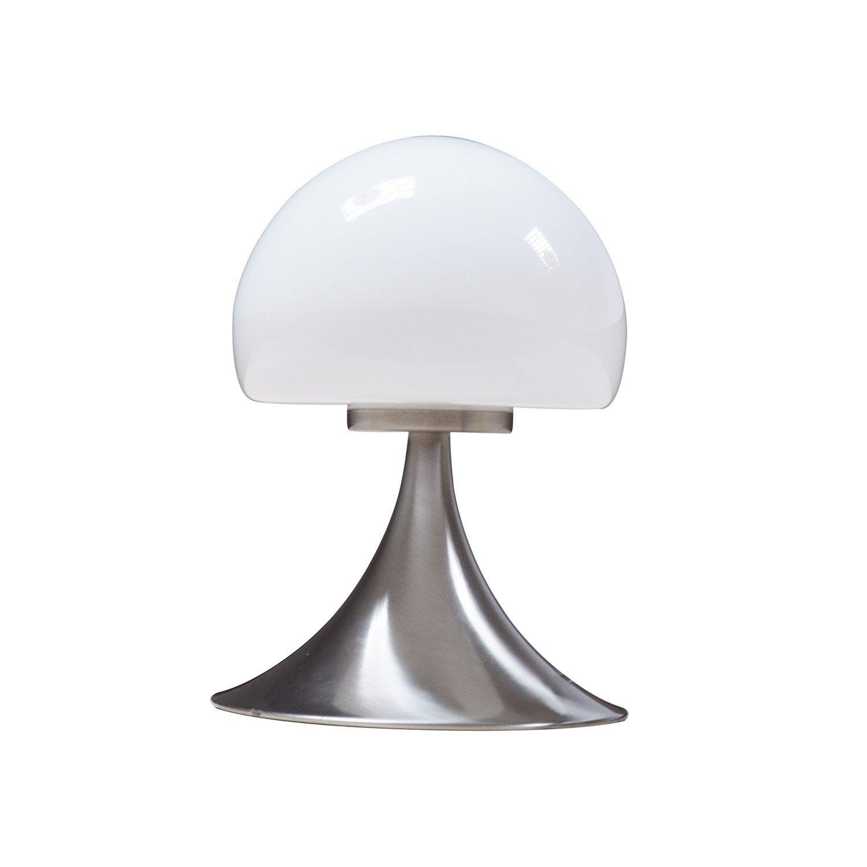 Lampe tactile mushroom inspire verre blanc 28w leroy merlin - Canvas pvc witte leroy merlin ...