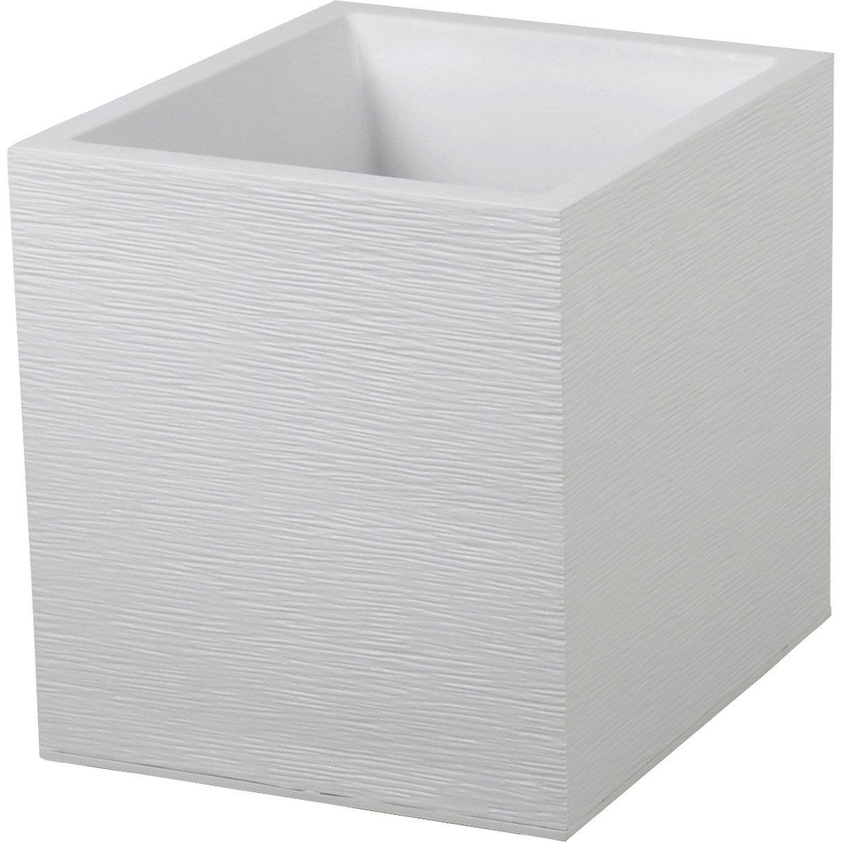 Pot plastique eda x x cm blanc c rus for Pot lumineux leroy merlin