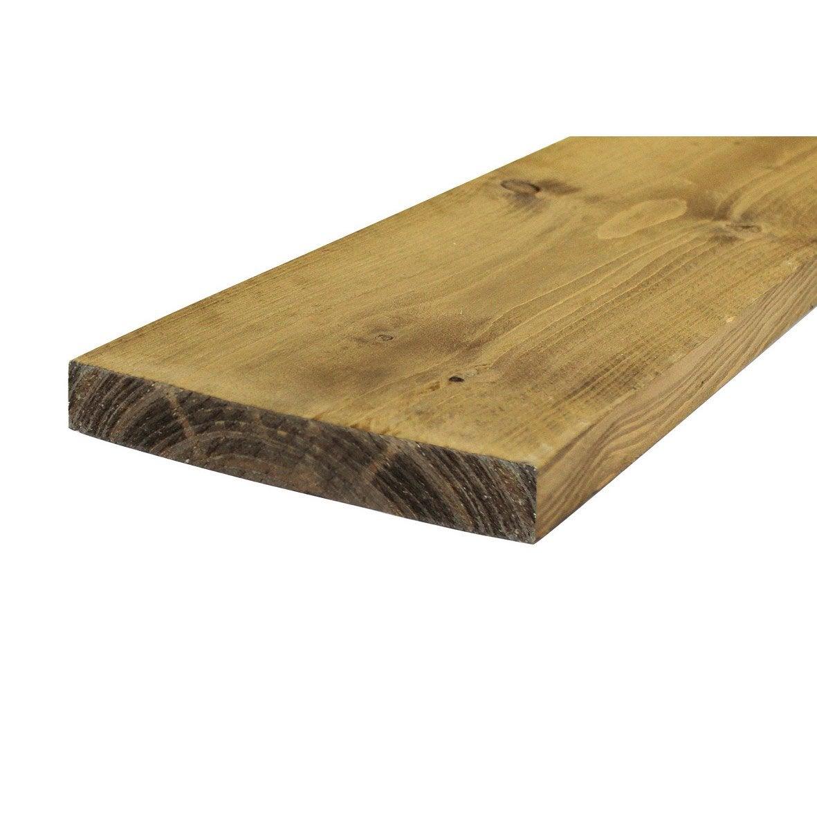 planche vieillie marron 195x30mm l leroy merlin. Black Bedroom Furniture Sets. Home Design Ideas