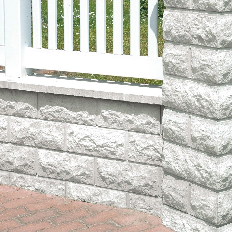 muret pierre reconstitu e d coratif x x cm leroy merlin. Black Bedroom Furniture Sets. Home Design Ideas