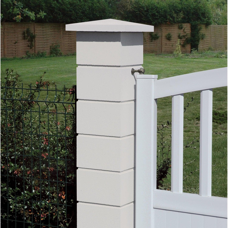 el ment de pilier classique lisse blanc x x cm leroy merlin. Black Bedroom Furniture Sets. Home Design Ideas