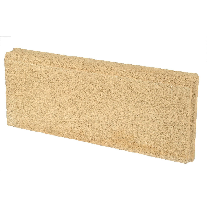 Bordure droite b ton jaune h 20 x l 50 cm leroy merlin - Bordure beton leroy merlin ...