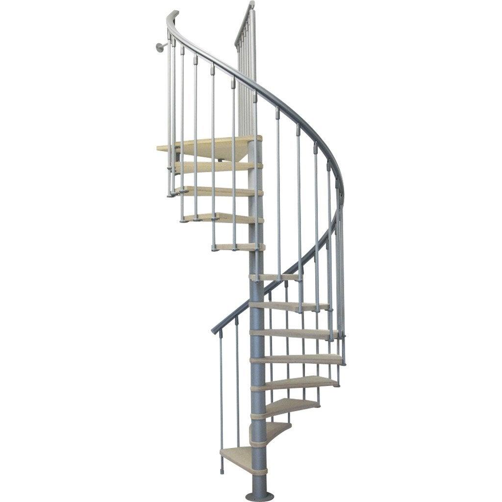 escalier colima on rond nice bois m tal gris leroy merlin. Black Bedroom Furniture Sets. Home Design Ideas
