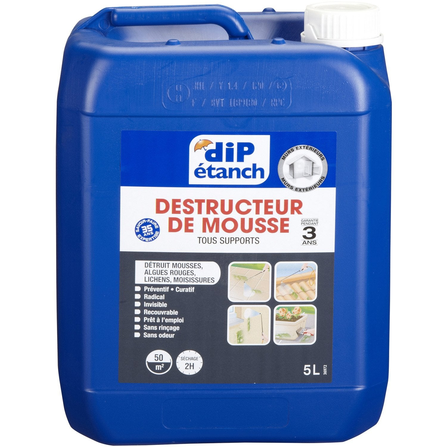 Traitement antimousse dip incolore 5 l leroy merlin for Produit anti mousse