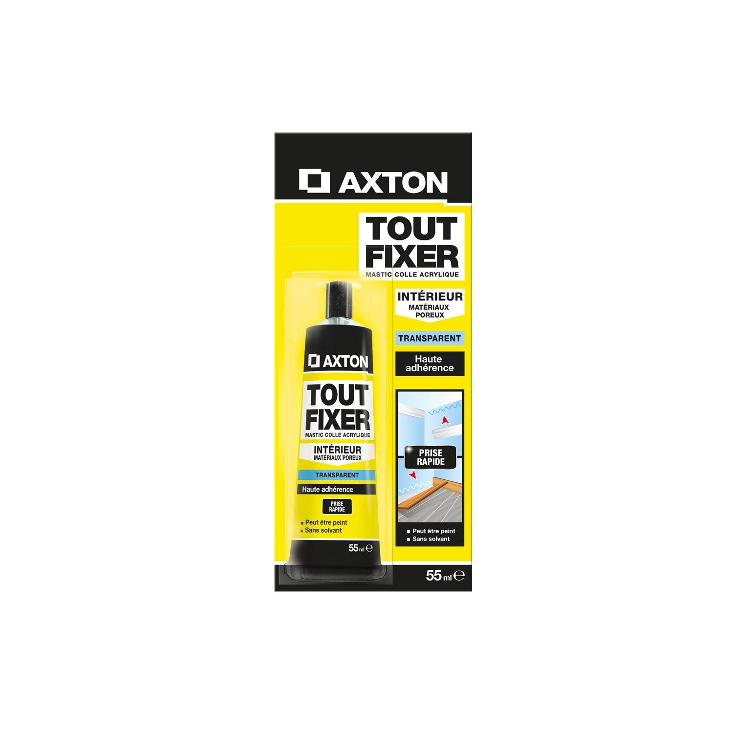 colle mastic tout fixer axton 55 ml leroy merlin. Black Bedroom Furniture Sets. Home Design Ideas