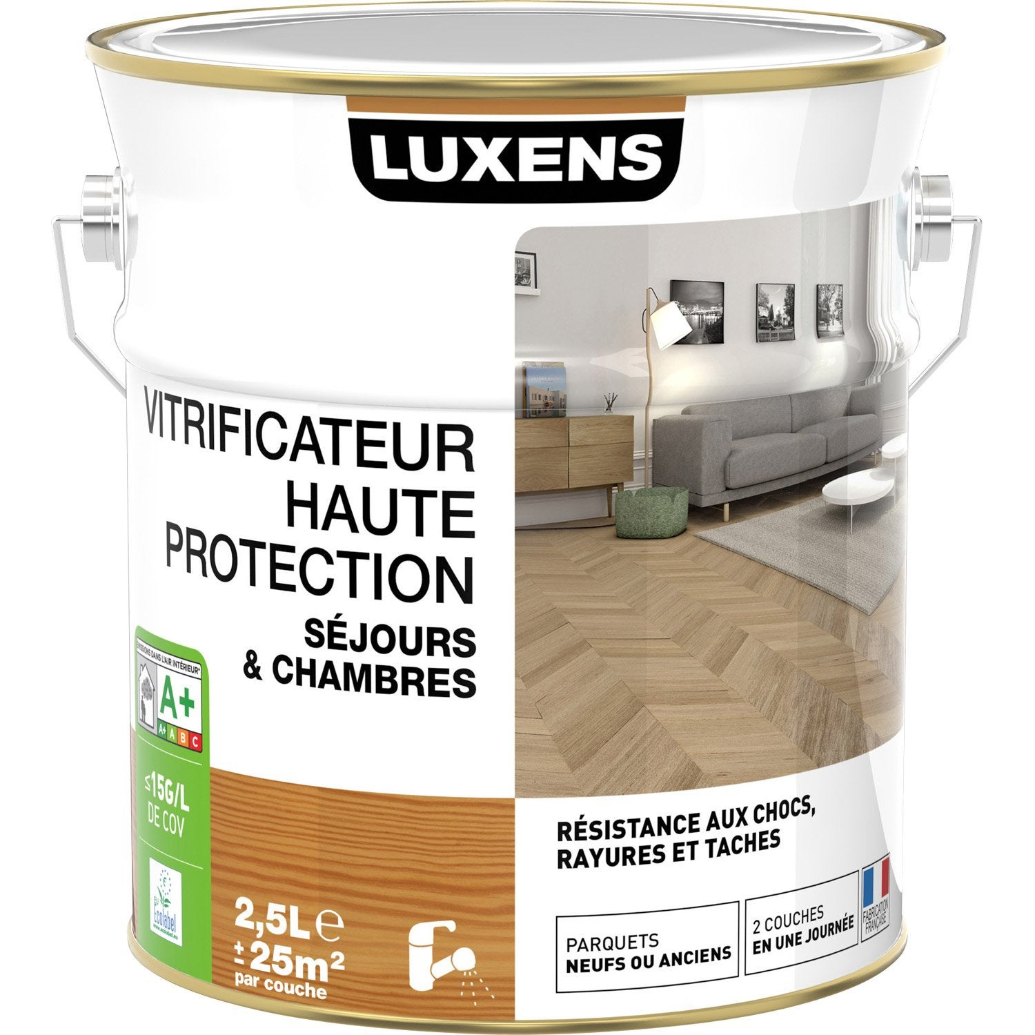 Vitrificateur Parquet : Vitrificateur parquet haute protection luxens incolore