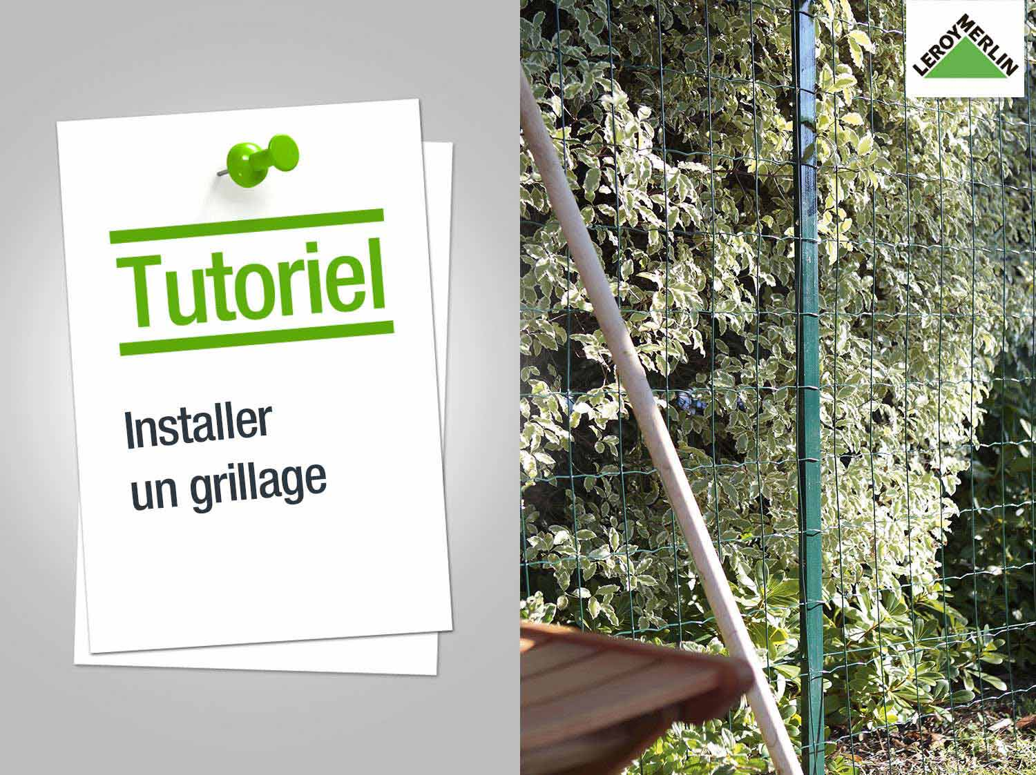 Comment installer un grillage leroy merlin - Comment poser un portillon de jardin ...