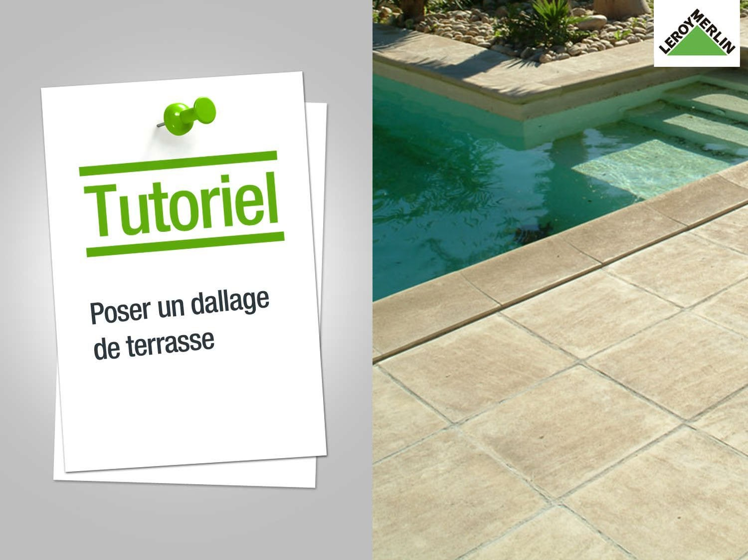 Comment poser du carrelage exterieur poser les dalles for Dcaper un carrelage