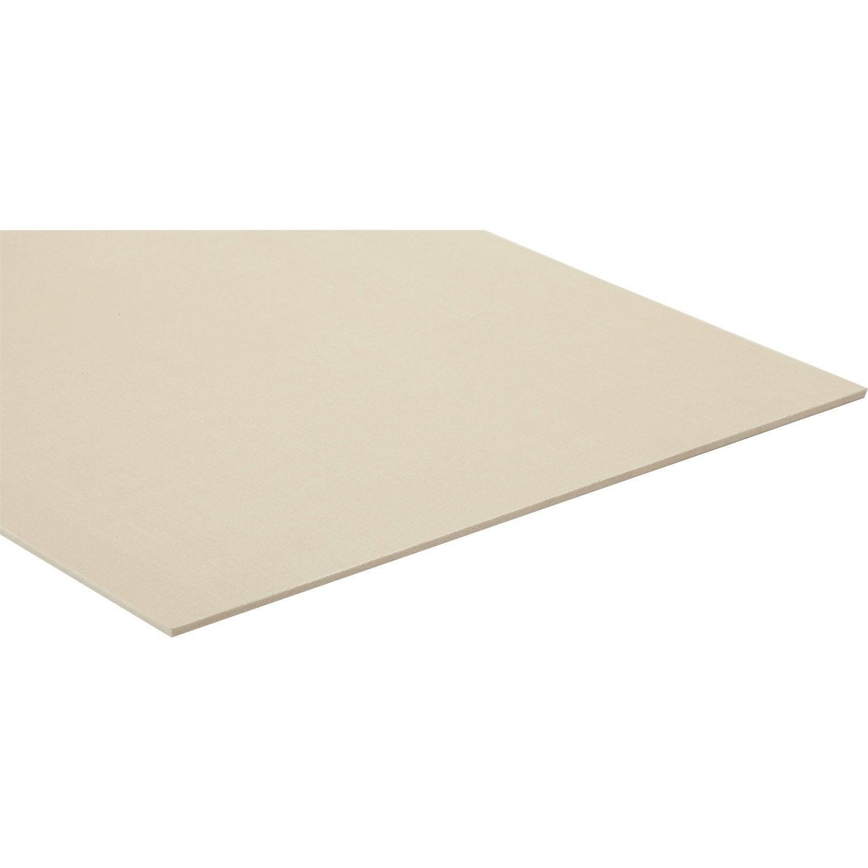 Panneau fibre composite teint e masse naturel hydrofuge l250 x l122 5mm leroy merlin - Composiet dekbord leroy merlin ...