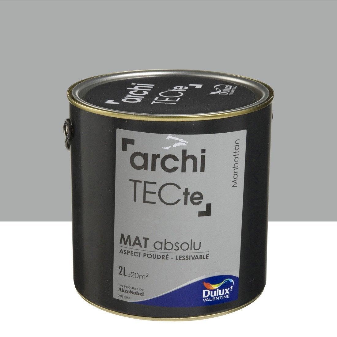 Peinture gris manhattan dulux valentine architecte 2 l for Peinture dulux valentine gris