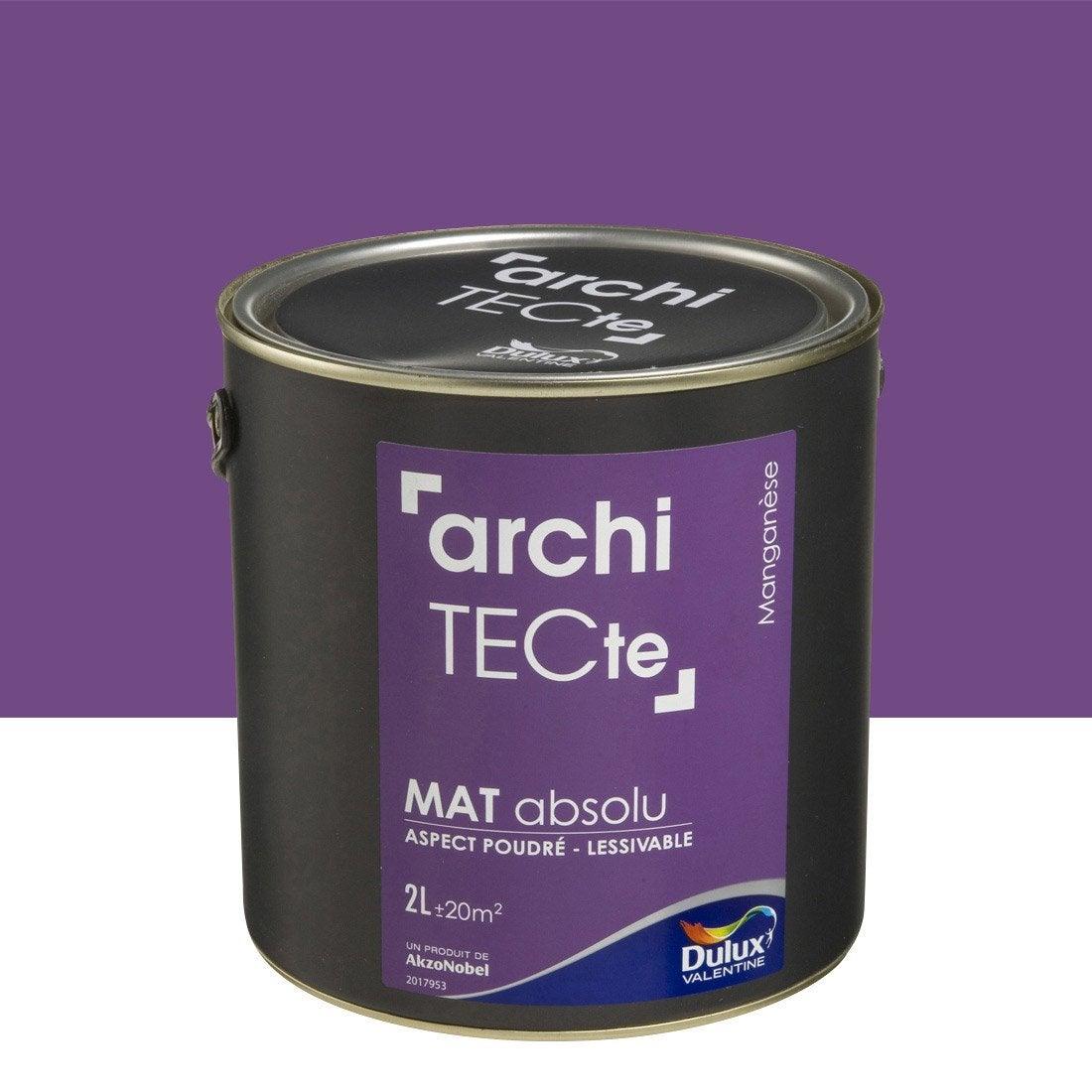 peinture violet mangan se dulux valentine architecte 2 l leroy merlin. Black Bedroom Furniture Sets. Home Design Ideas