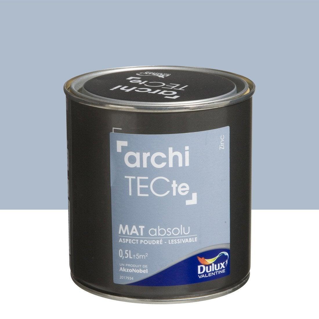 Peinture gris zinc dulux valentine architecte 0 5 l for Peinture architecte leroy merlin