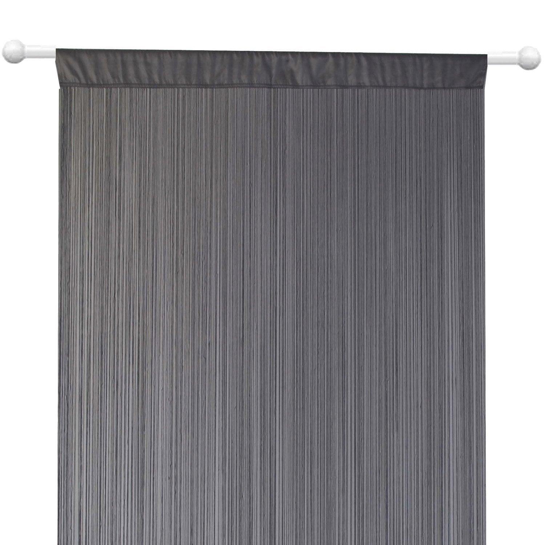 rideau fils spaghetti gris 90 x 240 cm leroy merlin